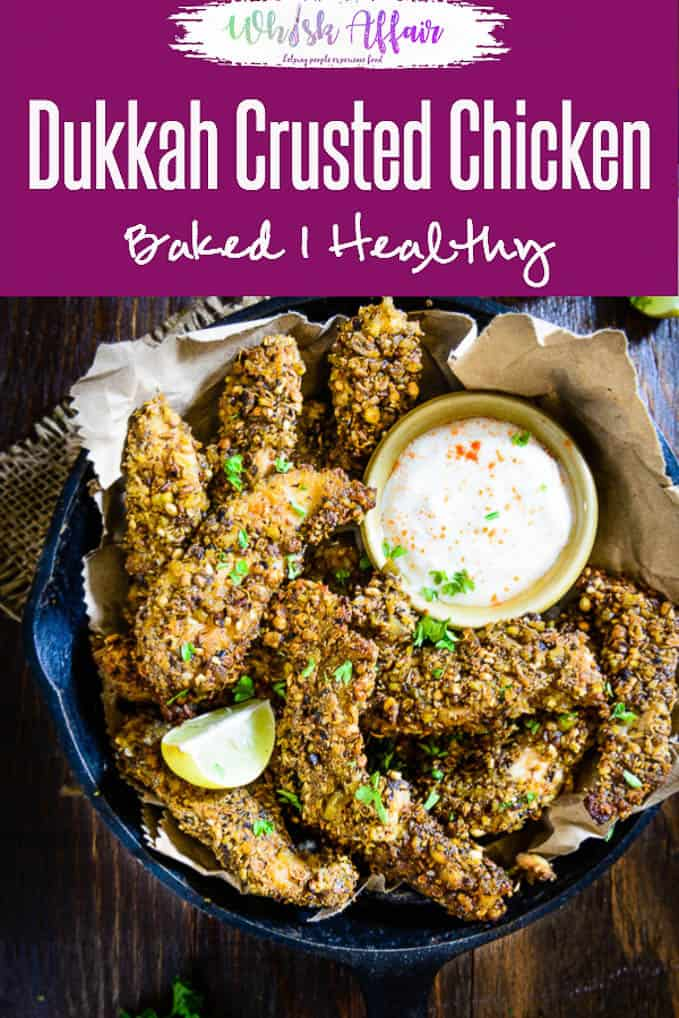 Dukkah is an Egyptian mix of crushed nuts, spices. Baked Dukkah Crusted Chicken is a tasty and healthy dish made using boneless chicken, dukkah mix and buttermilk. Here is how to make Dukkah Chicken. #chicken #Recipe #healthy