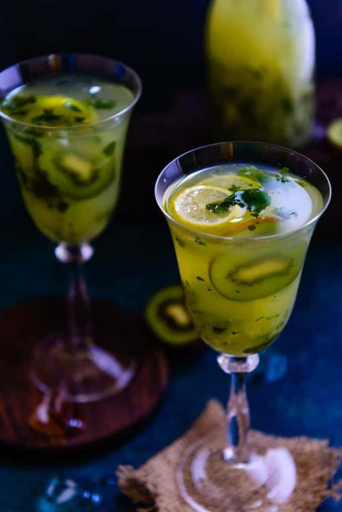 Kiwi Cooler is a refreshing summer cooler with a slight tang and flavour from fresh Kiwi Fruit, lemon and mint leaves. Make it this summers.