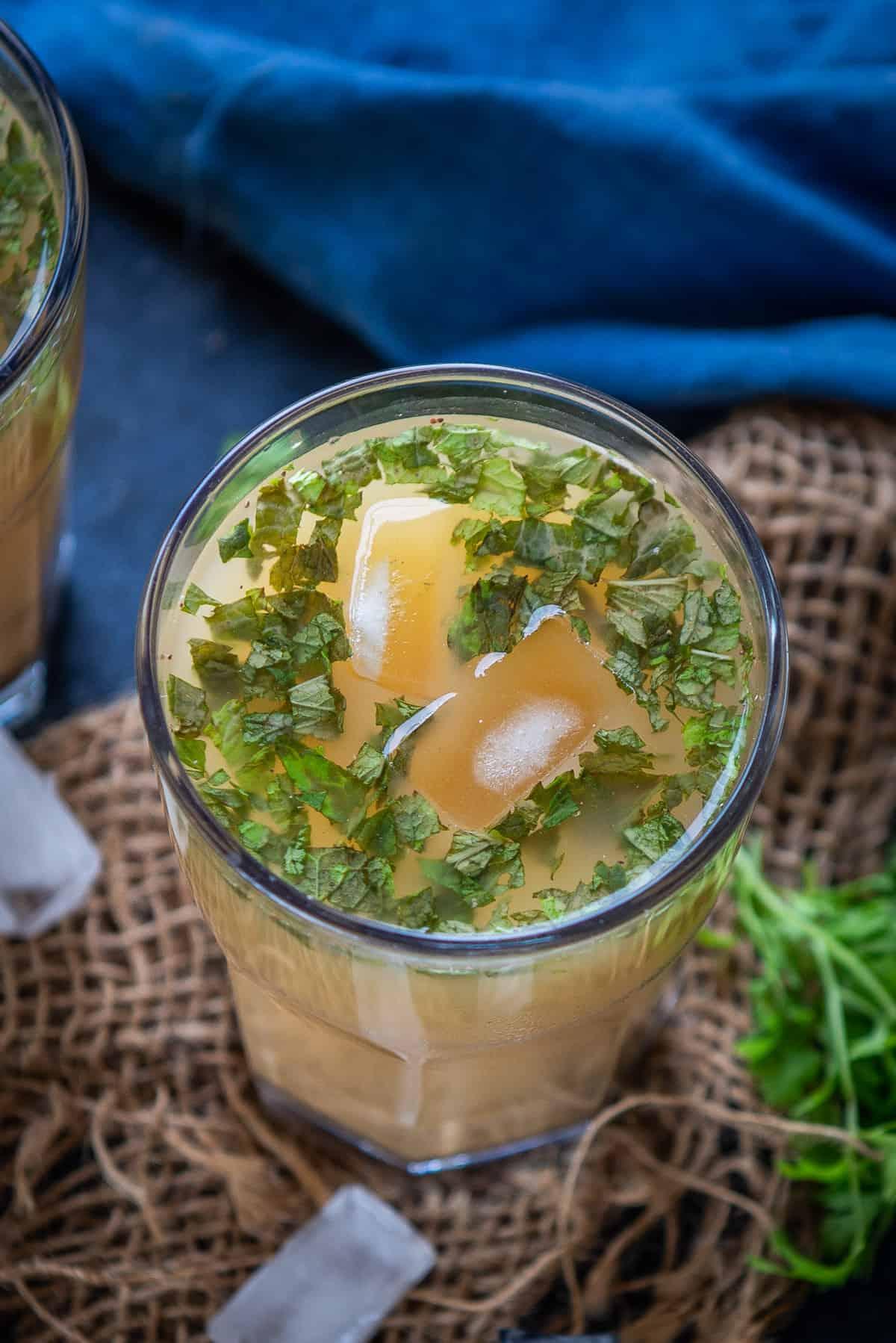 Sattu Drink served in a glass.