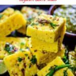 Moong Dal Dhokla is a popular Gujarati snack. Serve it with Adrak Wali Chai for breakfast and see how everyone loves savouring them! Here is simple step by step recipe to make Moong dal Dhokla. #Indian #Snack #Appetizer #Streetfood #Recipe #Gujarati