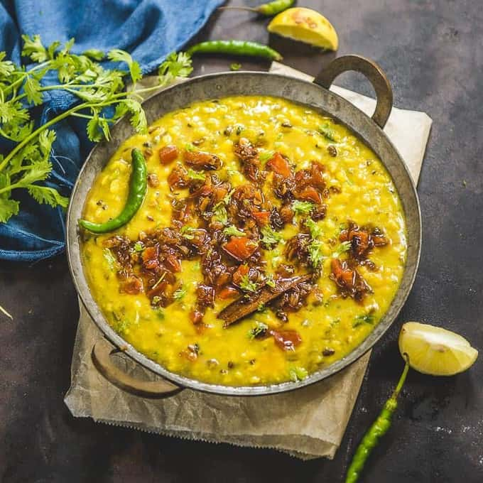 Navratan Dal as the name says is a lentil based recipe prepared using nine different kind of dals. Serve it zeera rice and laccha parathas.