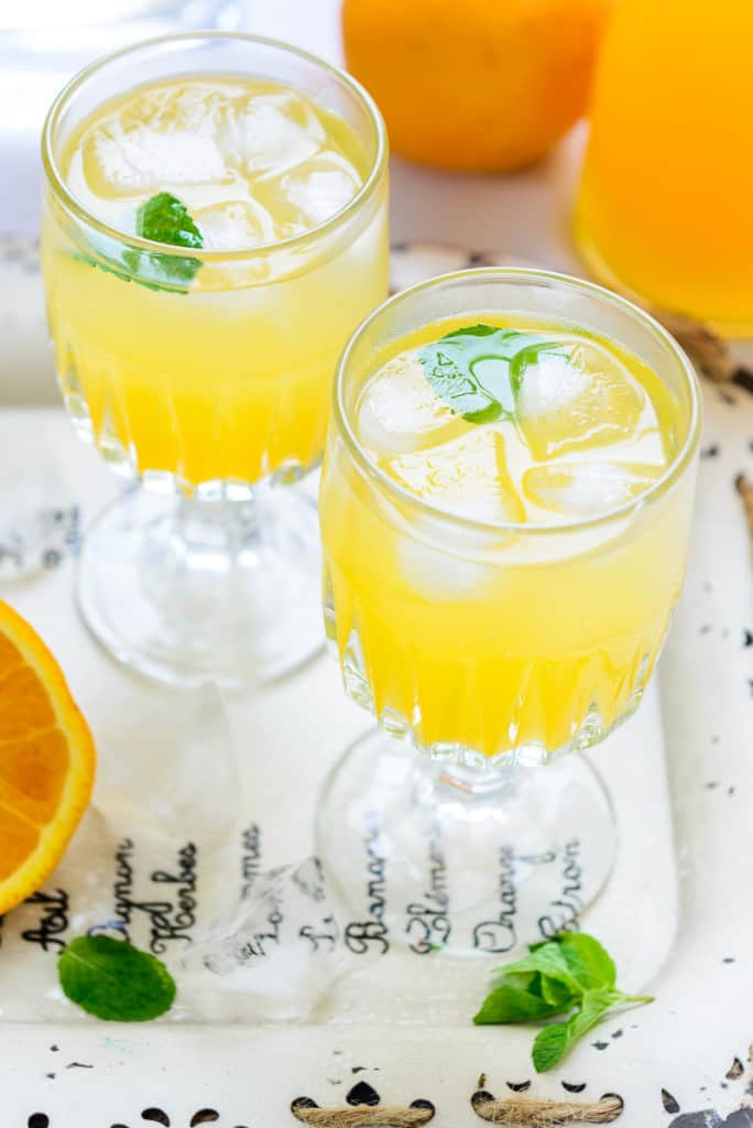 You would always find a bottle of Orange Ginger Syrup stored in my refrigerator. It is so easy to assemble coolers, slush, sherbats by using it!