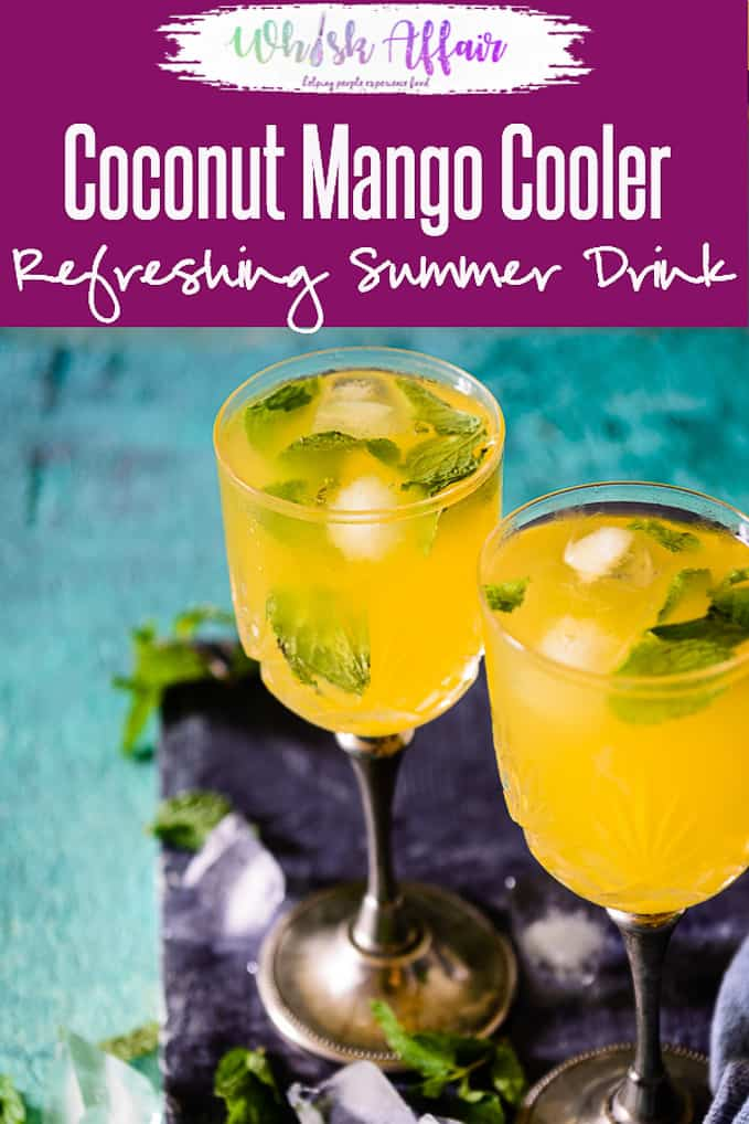 Made from the combination of coconut water and mango juice, Coconut Mango Cooler grants an unusual and toothsome flavour to the palate. Here is how to make it. #Mango #REcipe #Drink #Beverage #Summer