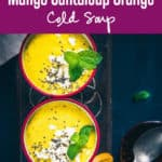 Cold Mango Cantaloupe Orange Soup is a tangy and chilled delight which can be relished any time of the day. Learn its recipe! #Cold #Soup #mango #Recipe #Orange #Cantaloup