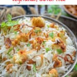 Nicely sauteed, Gobi Pulao or Cauliflower Pulao has this rich flavour of ghee, spices such as cloves and zeera. Serve it with raita for a healthy meal! #Cauliflower #Rice #Recipe #Pulao