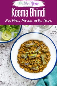 Keema Bhindi is a tasteful lamb based dish made using okra or bhindi and rich spices, condiments as well. Here is how to make it. #Indian #Okra #Curry #Lamb