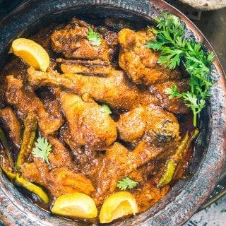 Khubani Murgh Kadhai (Chicken Apricot Curry)