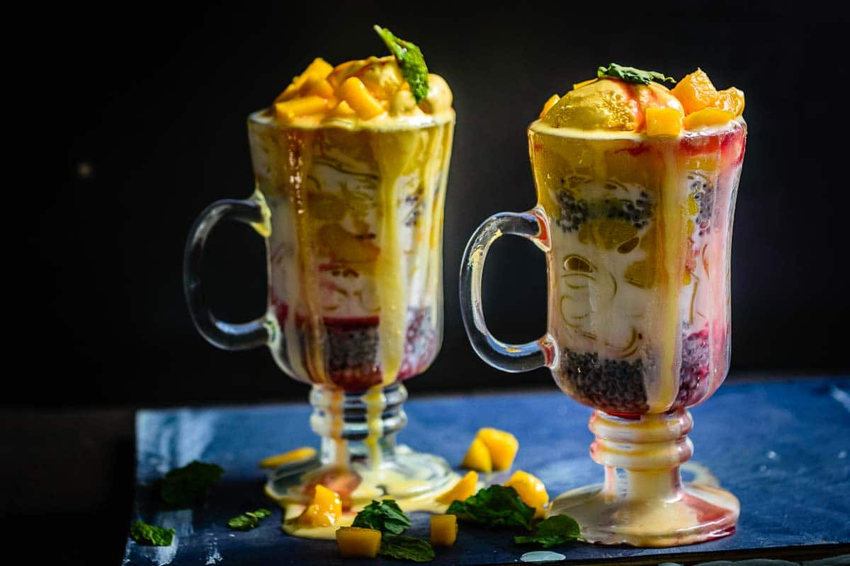 Refreshing Hoemmade Mango Falooda Recipe