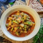 Aloo Matar is a simple, delicious Indian main course dish that vouches for a wholesome, healthy meal for your family. Made using potato cubes, fresh peas and a spicy masala, this dish is perfect to serve with any Indian bread. Here is how to make Aloo Matar Recipe.