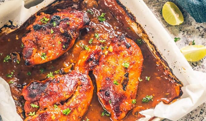 Baked Apricot Chicken Recipe, How to make Baked Apricot Chicken