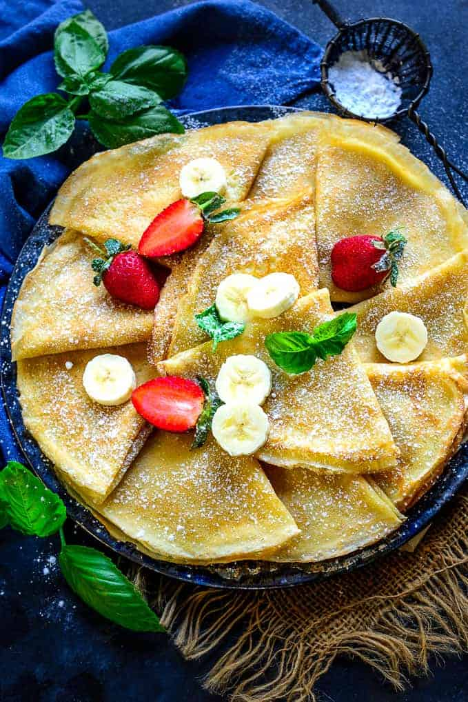 Best Homemade Crepes Recipe Step By Step Video Whiskaffair