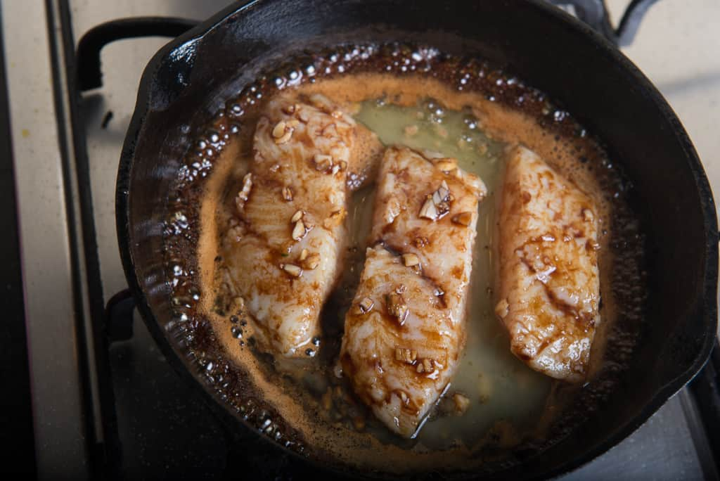 Honey Garlic Fish is a flavourful delicacy made from Basa and exotic combination of honey, soy sauce, garlic. Serve it with quinoa or rice!