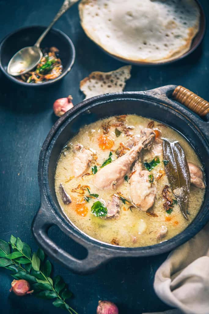 Traditional kerala style chicken stew step by step whiskaffair kerala style chicken stew is a very mild yet full of flavours chicken curry which is forumfinder Choice Image