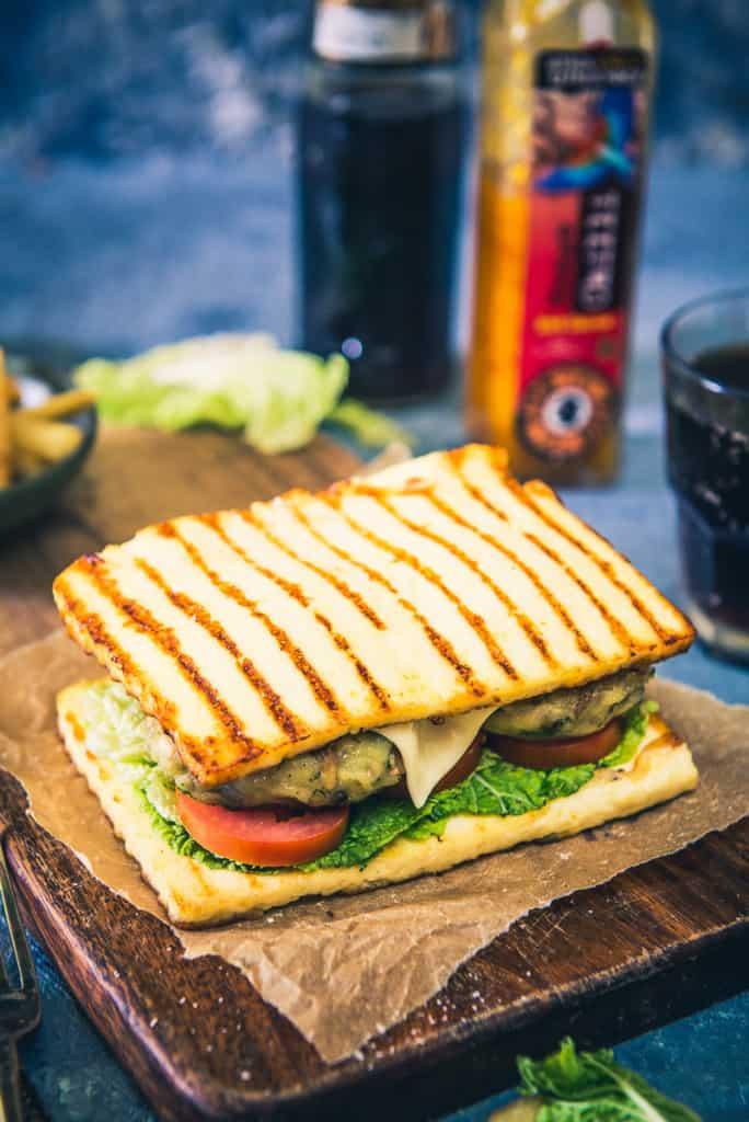 Mushroom Sandwich With Paneer Base
