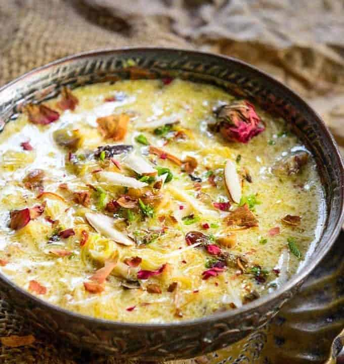 Sheer Khurma served in a bowl