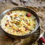 Hyderabadi Sheer Khurma is a traditional recipe which is a must make for the festival of Eid. It's made using nylon vermicelli cooked in milk and dry fruits.