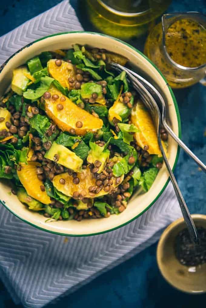 Avocado Lentil Salad Recipe, How to make Avocado Lentil Salad