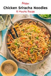 Made using toothsome Sriracha Sauce, chicken, veggies and noodles, Chicken Sriracha Noodles has a refined, refreshing flavour which makes a delicious meal! Here is how to make it. #Noodles #Chicken #Sriracha #Asian #Recipe