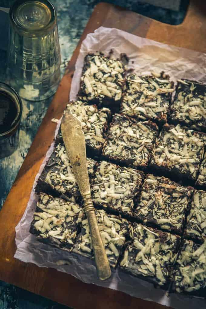 Dark Chocolate Coconut Brownie Recipe