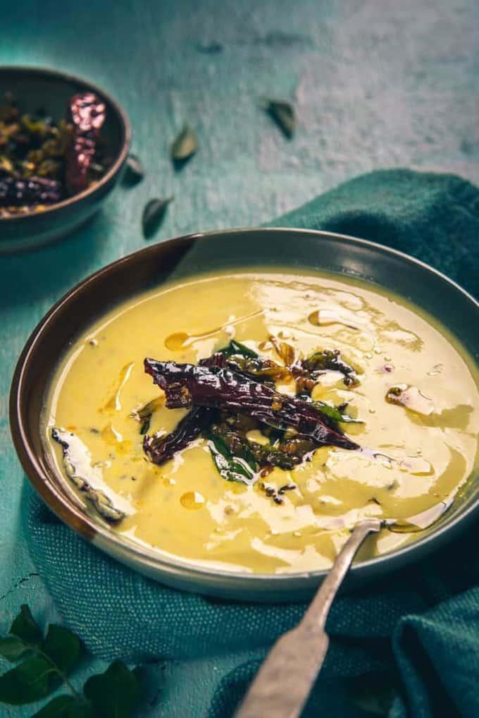 Perugu Charu Recipe, How to make Perugu Charu or Andhra Style Curried Buttermilk