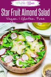 Starfruit Almond Salad is a fruity salad that has all the nutrients, rich flavours essential for making up a healthy and tasty meal! Relish it soon! Here is how to make it. #Healthy #Salad #Recipe #Starfruit