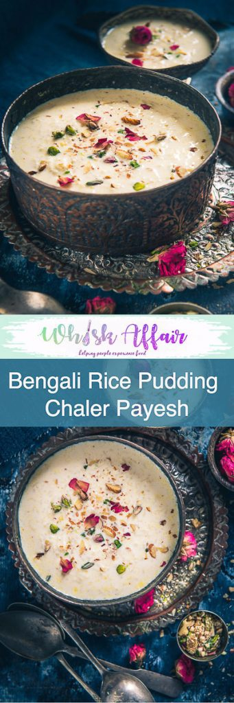 Bengali Chaler Payesh is a rice-based pudding made on several occasions of Bong community such as baby showers, birthdays, house-warming ceremonies et al. #Diwali #DiwaliRecipe #DiwaliRecipes #IndianRecipes #IndianSweetRecipes #IndianDessertRecipes #IndianFestival #IndianFestivalIdeas #DiwaliIdeas #BengaliRecipes #BengaliCuisine