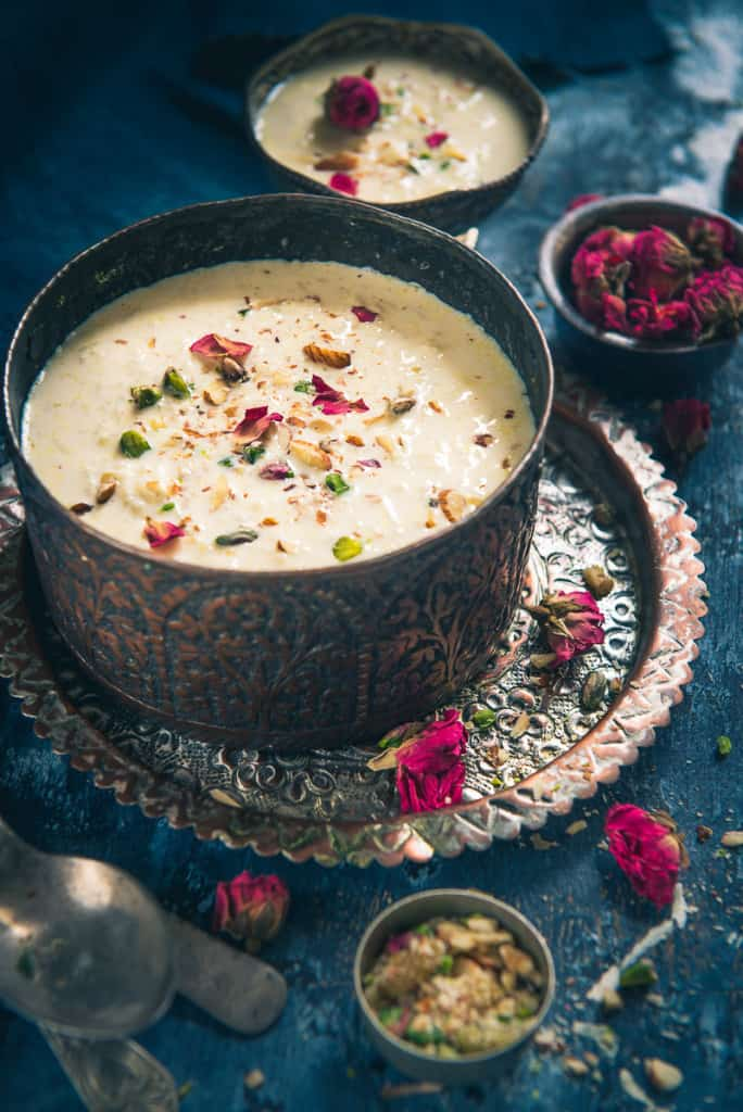 Bengali Chaler Payesh served in a bowl.