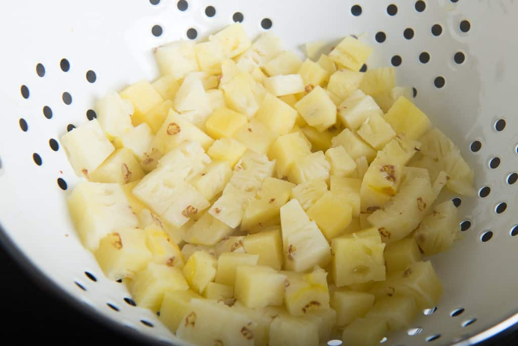 Farali Pineapple Curry Recipe is very easy to make accompaniment which just requires cubed pineapple, ghee, grated coconut, and spices. Serve it hot.