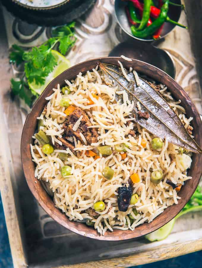 Sabz Badi Pulao is a wholesome, savoury Pulao loaded with veggies and urad dal nuggets. Relish it with any creamy raita and it is sure to make your day!