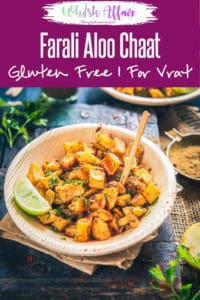 Farali Aloo Chaat Recipe I Aloo Chaat is assembled by frying potato dices till they turn crisp and they are tossed with toothsome spices. Indian, falahari, vrat, easy, potato, snack, tasty style, top shot, table top, video, recipe #Navratri