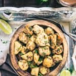 Farali Arbi Fry is a mix of boiled, diced Arbi which is sauteed with a gentle coat of green chilli, ajwain, amchoor powder, fresh coriander et al.