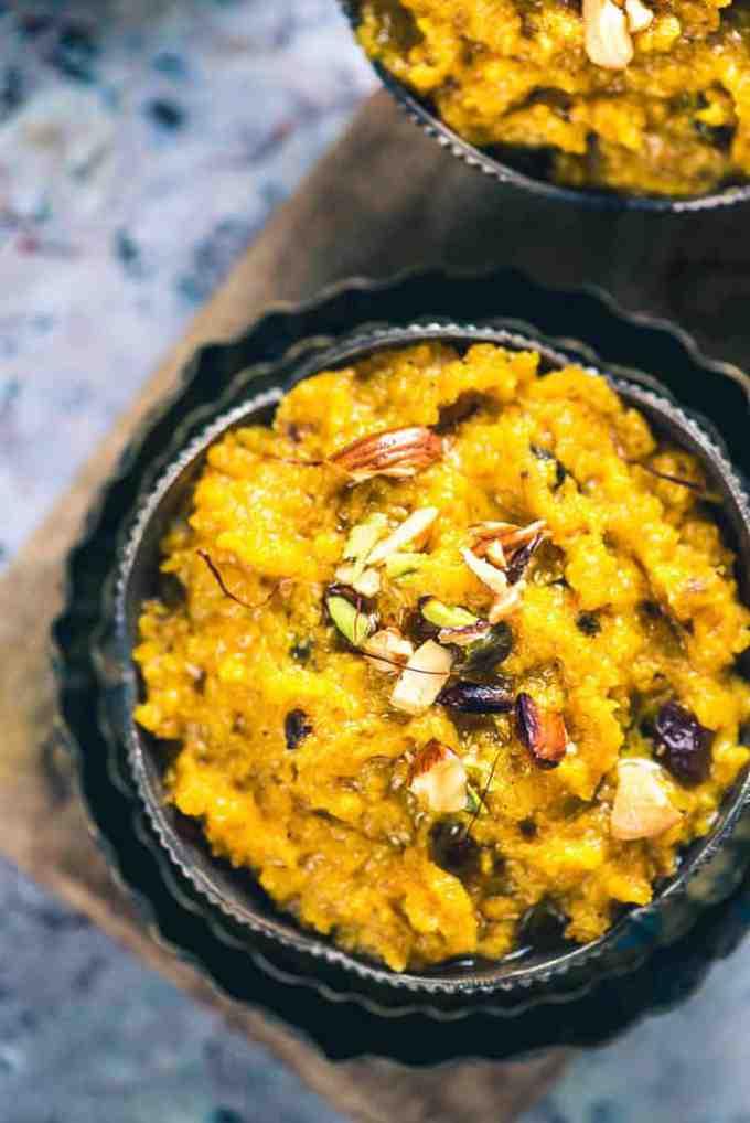 Kaddu Ka Halwa Recipe or Pumpkin Halwa is a unique vegetable-based dessert like Lauki ka Halwa which turns stupendously toothsome.