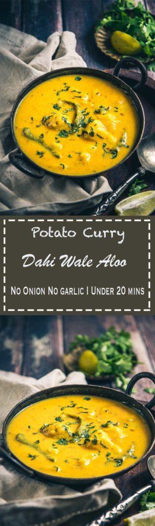 No Onion No garlic Dahi wale Aloo