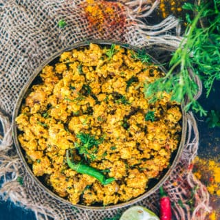 Paneer Bhurji is a simple easy to make Indian dry curry made using Indian cottage cheese that is Paneer and other spices.