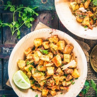 Farali Aloo Chaat Recipe I Aloo Chaat