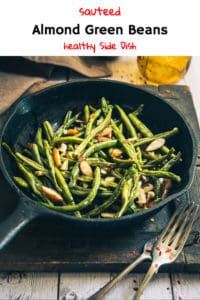Sautéed Garlic Almond Green Beans is a timeless dish made from fresh green beans, butter, olive oil, almonds and a dash of garlic. Read its recipe. #Thanksgiving #Christmas #SideDish
