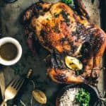 Citrus Herb Roasted Chicken is finger-licking dish prepared from whole chicken, herbs, and a generous dash of lemon. Do read its recipe.