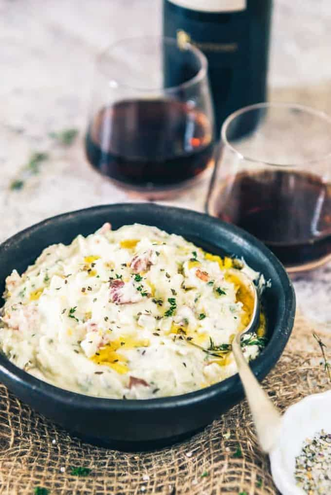 Creamy Bacon Herb Mashed Potatoes Recipe, How to  make Creamy Bacon Herb Mashed Potatoes