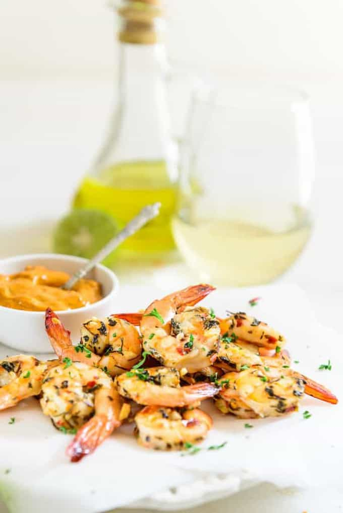 Herb Garlic Roasted Prawns as its names indicates is a healthy dish made using prawns, olive oil, and a tad bit sprinkle of herbs.