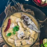 Rajasthani Safed Maas is a mutton based gravy that has a luscious texture and royal white colour derived from fresh cream, yogurt, khoya and dry fruits. Here is a traditional video recipe to make it. #Mutton #Curry #Indian