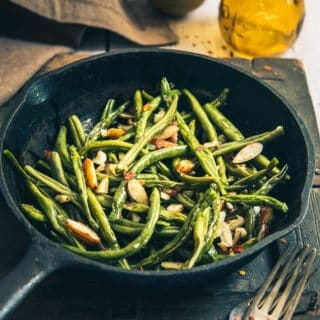 Sautéed Garlic Almond Green Beans