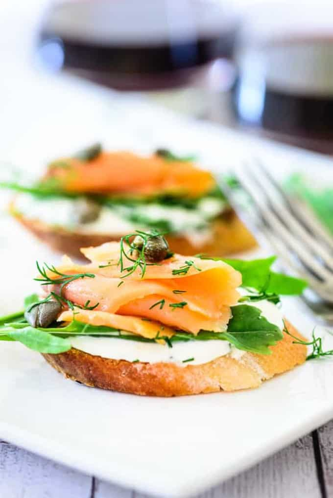 Smoked Salmon Cream Cheese Bruschetta Recipe, How to make Smoked Salmon Cream Cheese Bruschetta
