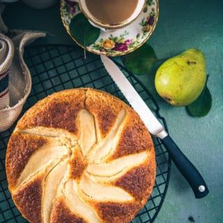 Pear Olive Oil Cake