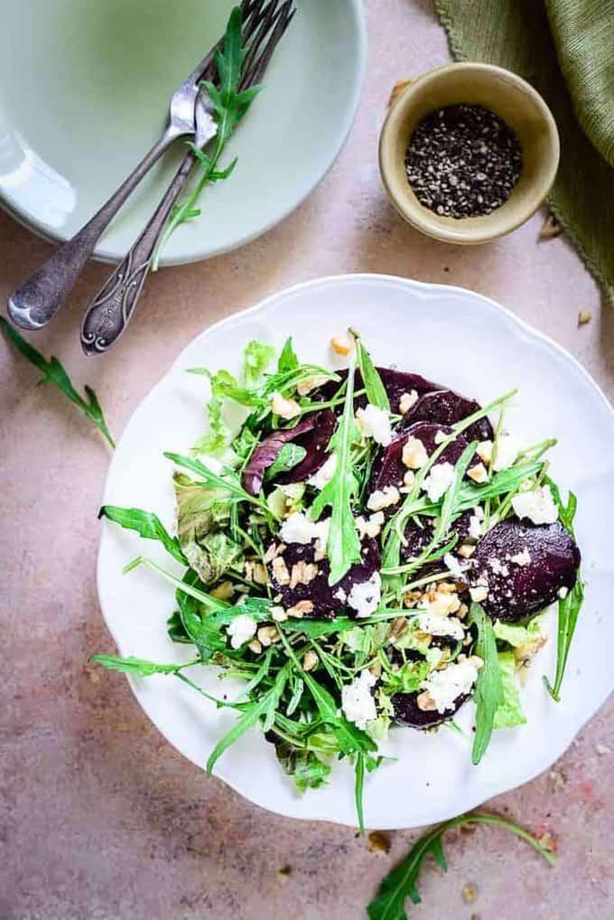 Close up shot of Balsamic Beet Salad