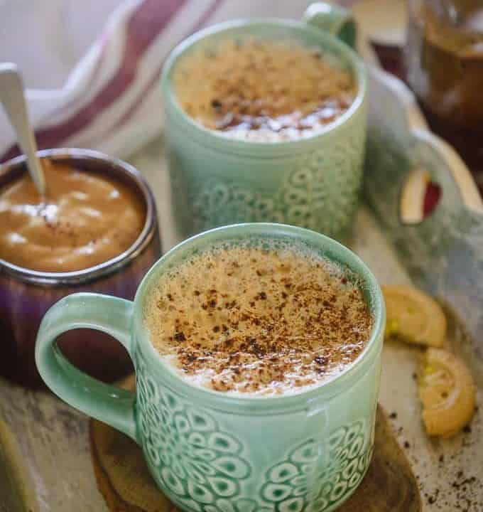Indian coffee served in cups.