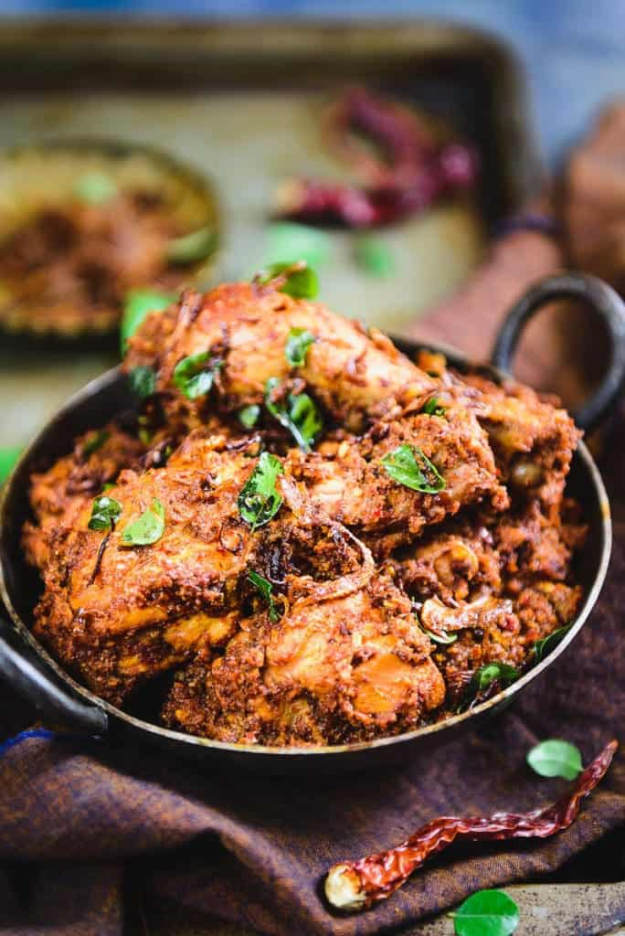 Mangalorean Chicken Sukka Recipe, How to make Mangalorean Chicken Sukka or Kori Sukka