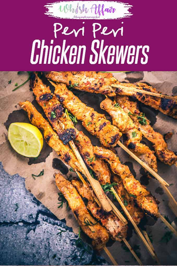 Chicken Peri Peri Skewers is probably the best grilled delicacy that I have tasted in the recent times. It is crisp, pungent and scrumptious! Piri Piri I Peri Peri I Chicken I Recipe I Easy I Best I Perfect I Quick I Appetizer I South I African I Snacks I Traditional I Authentic I