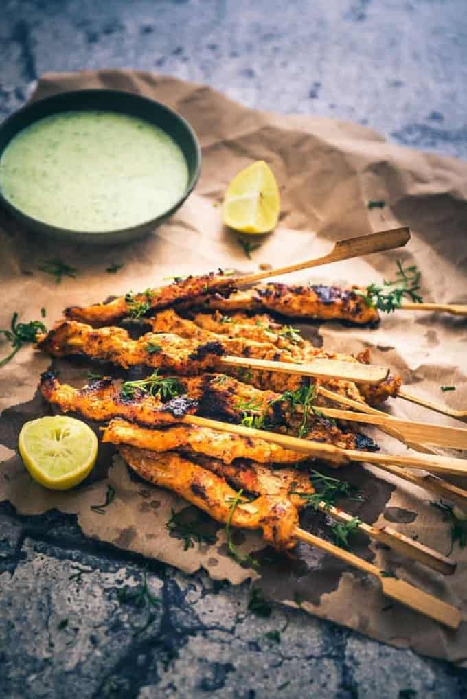 Peri Peri Chicken Skewers is probably the best grilled delicacy that I have tasted in the recent times. It is crisp, pungent and scrumptious!