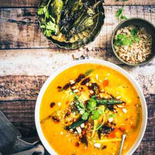 Gujarati Dal Dhokli is a spicy, sweet, one pot meal, prepared by simmering whole wheat flour bits in a lentil based motley perked with spices