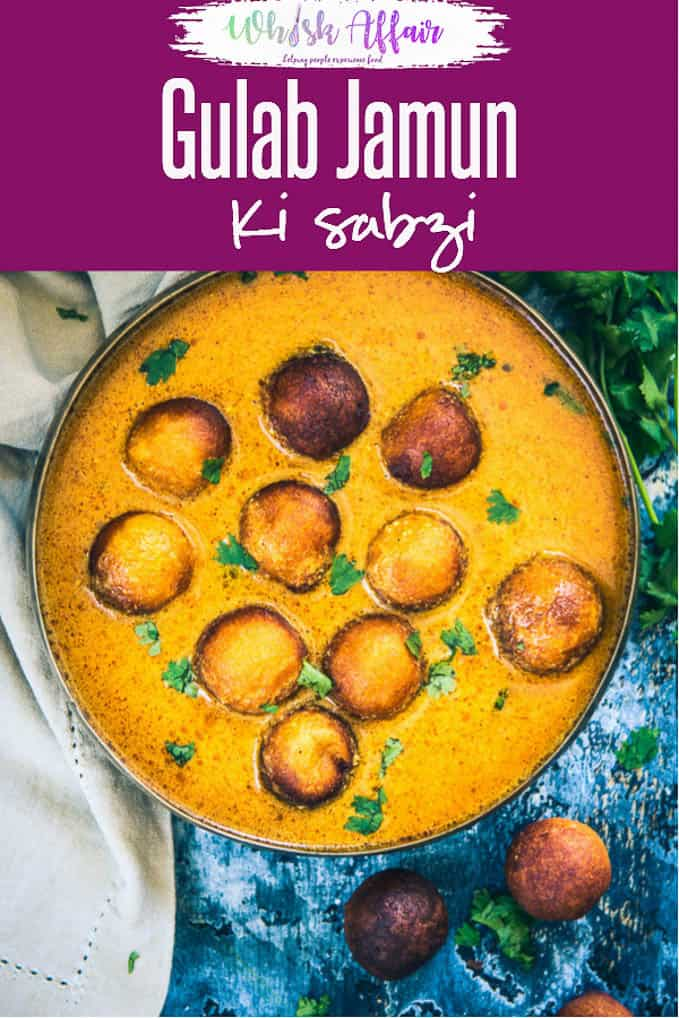 Gulab Jamun Ki Sabzi is a delicious Rajasthani Curry which is popular in Jodhpur. It is best served with roti or steamed rice. Here is how to make it. #Indian #Curry #Homemade #Rich #Different #Festive
